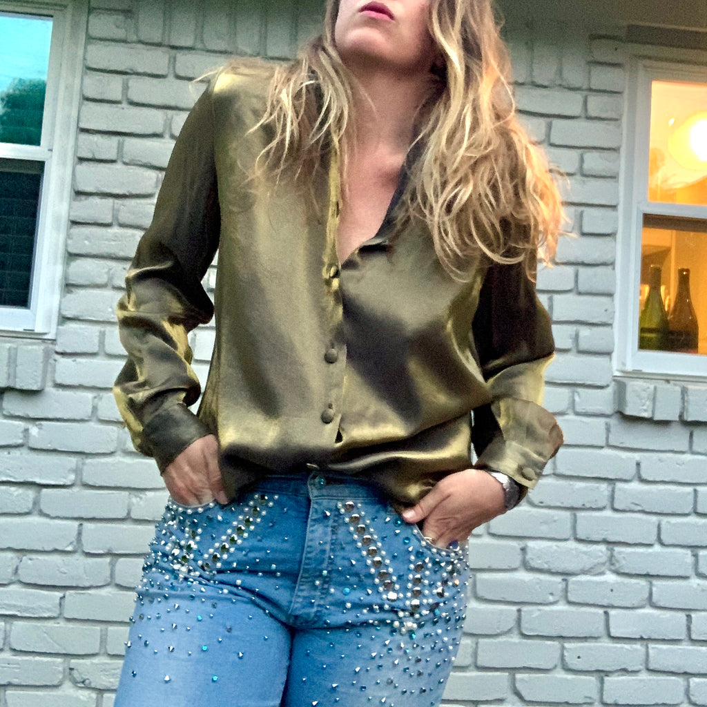 Shiny Gold Blouse