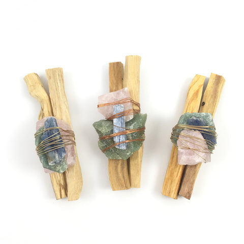 Palo Santo Quartz Smudge Bundle  #02