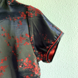 Chinese Cheongsam Dress Black
