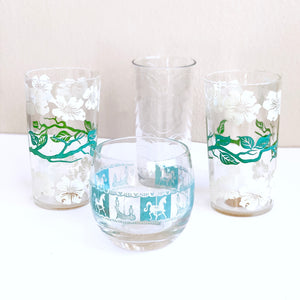 Set of Four Blue Glasses
