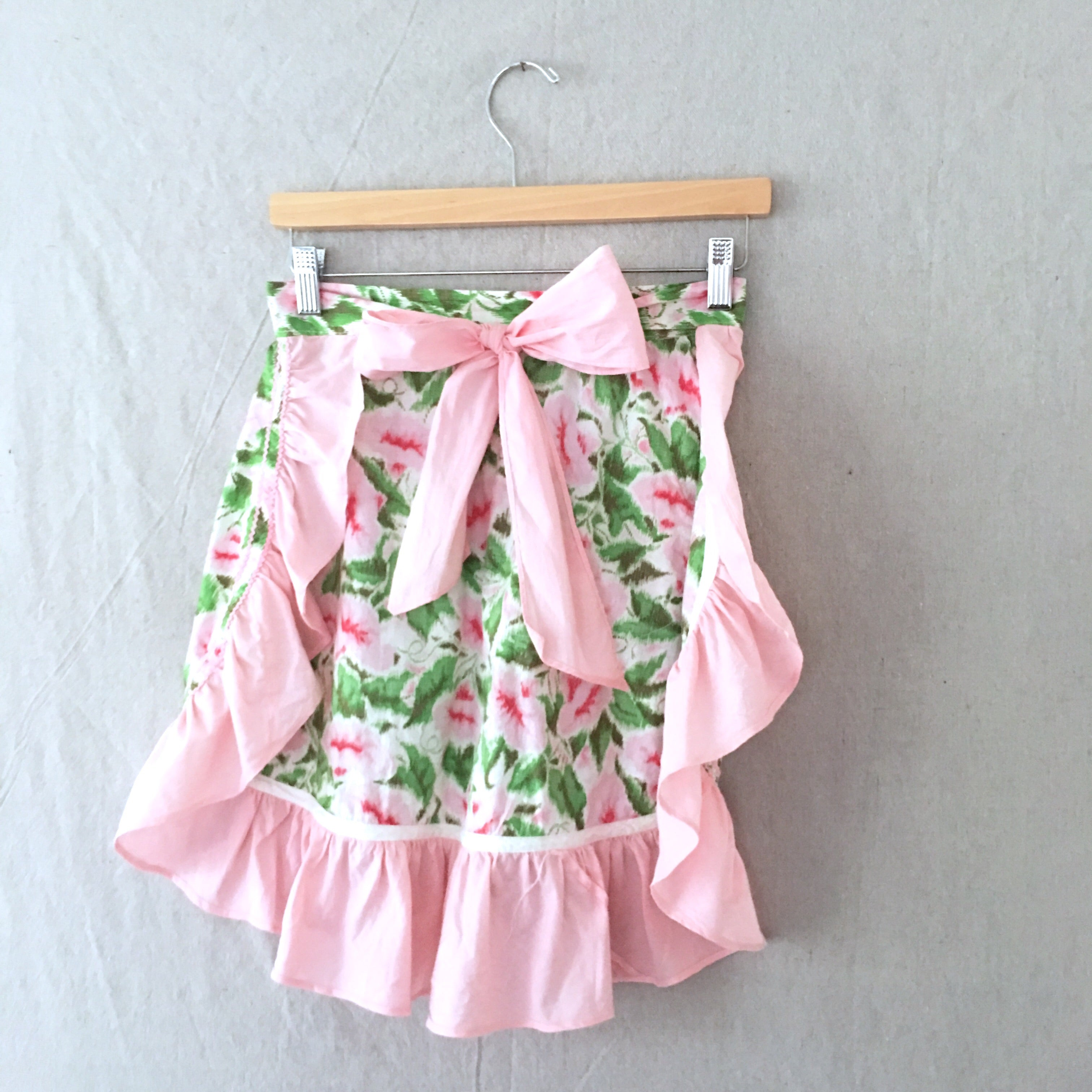 Apron - Pink & Green