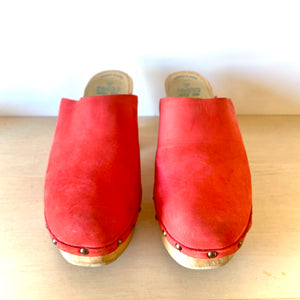 Red Leather Clog