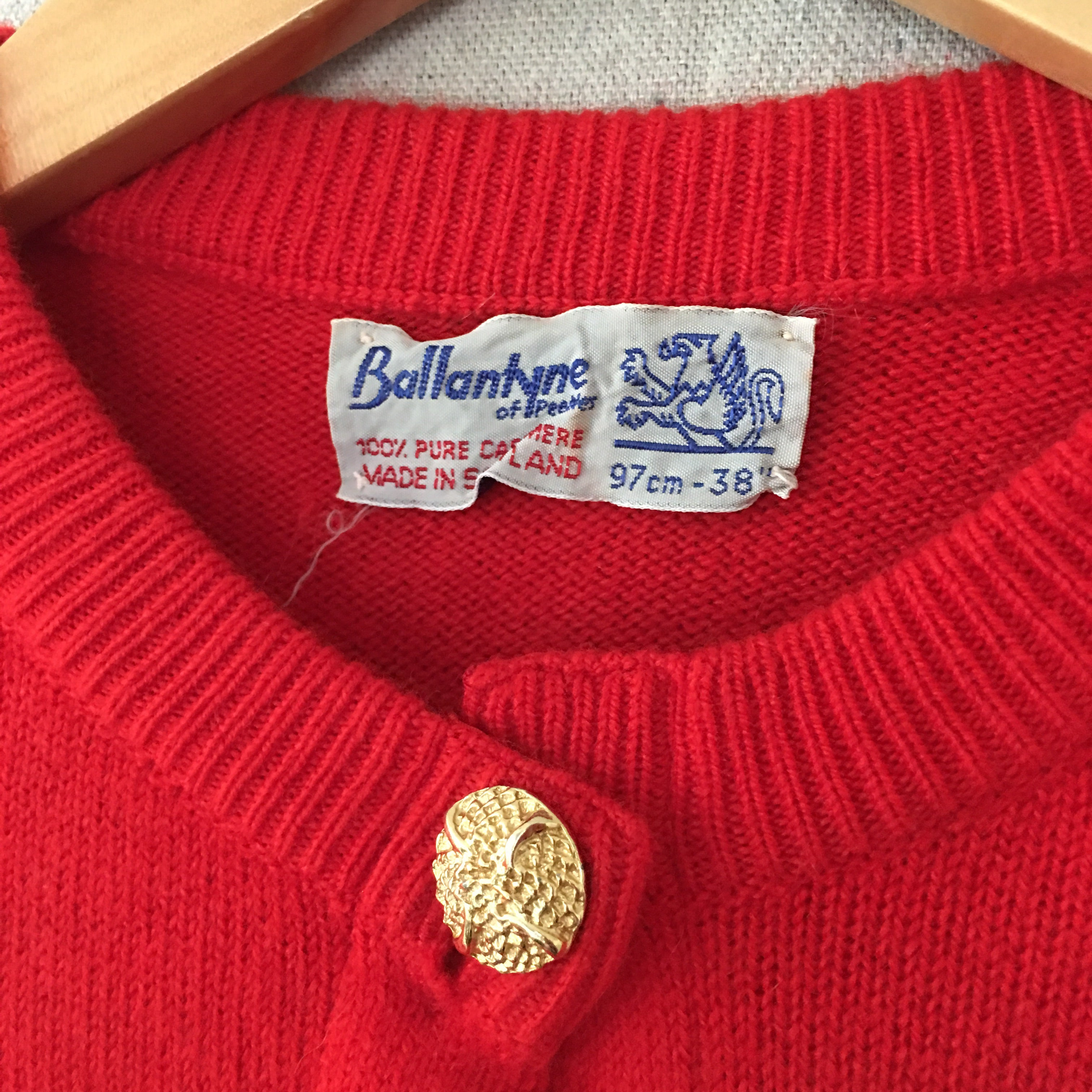 Red Cashmere Cardigan