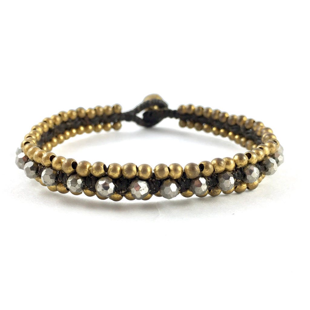 Bracelet with Brass and Silver