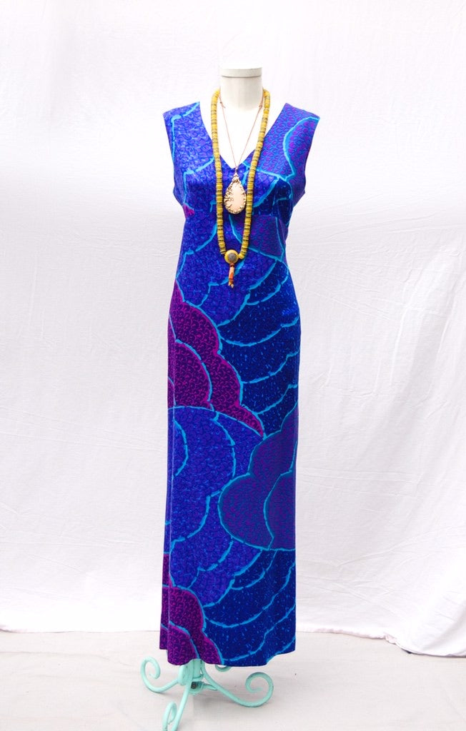 70's Handmade Pillar Maxi Dress