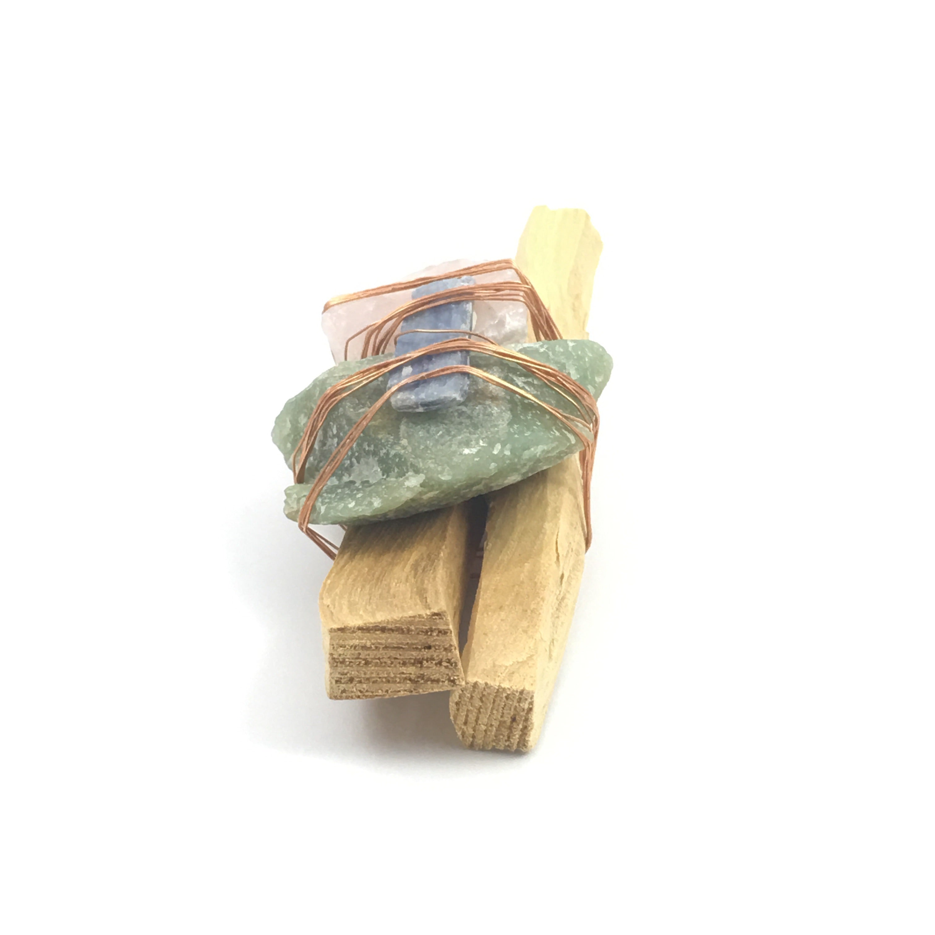 Palo Santo Quartz Smudge Bundle  #03