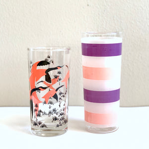 Set of Four Pink Glasses