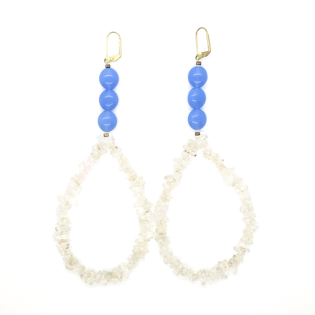Epic Quartz Hoop Earrings
