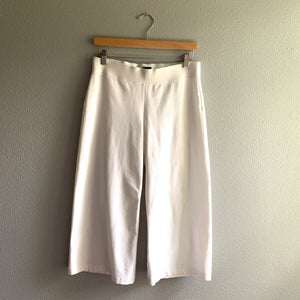 White Eileen Fisher Wide Leg Culotte
