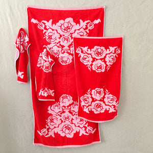 Vintage Floral Towel Set