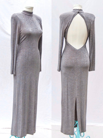 Grey Sparkly Maxi Dress