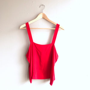 Red Silk Top (M-L)