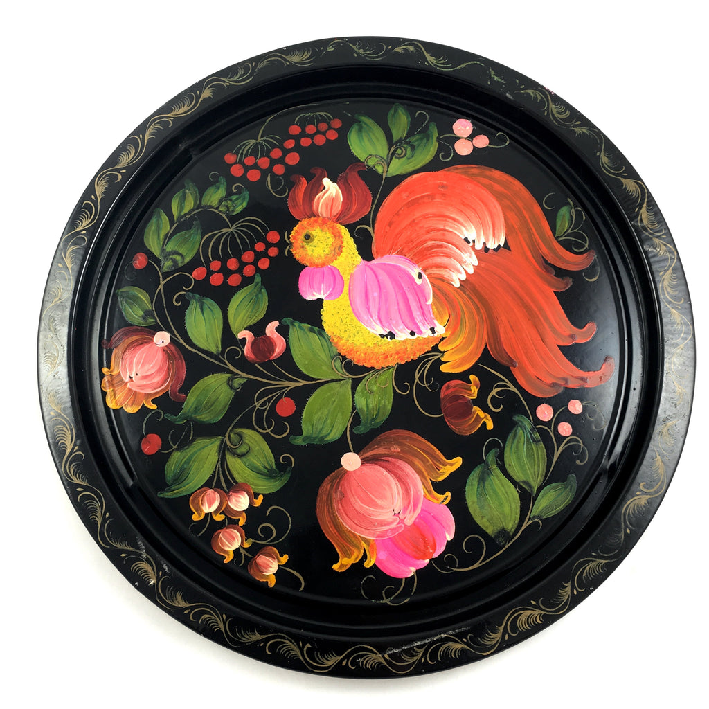 Toleware Hand Painted Tray