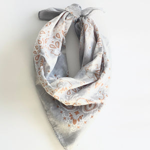 Dyed Bandana - Grey
