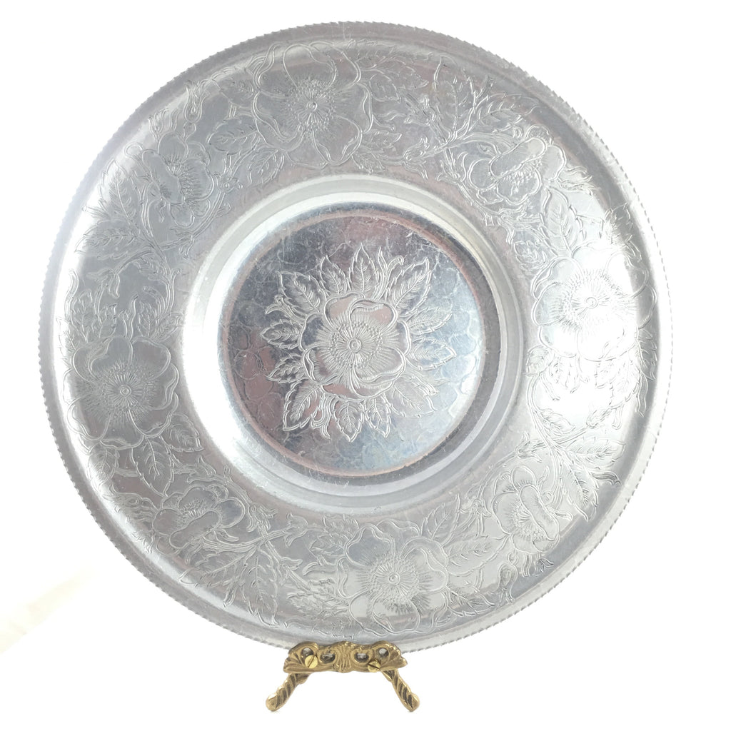 Hand Wrought Floral Bowl