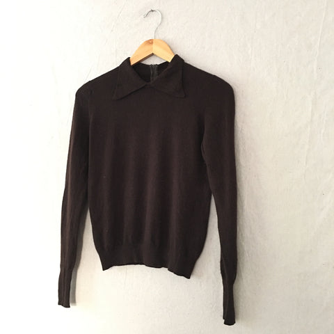 Brown Collared Sweater