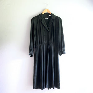 Black L/S Silk Dress