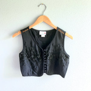 Sheer Crop Vest/Top