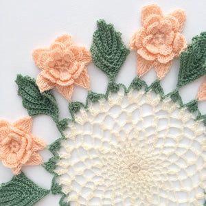 Crochet Rose Table Linen