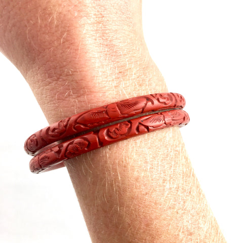 Cinnabar Bangle Bracelet