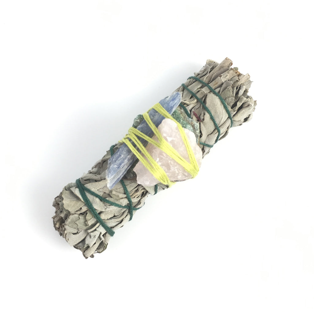 Sage & Quartz Smudge Stick  #03