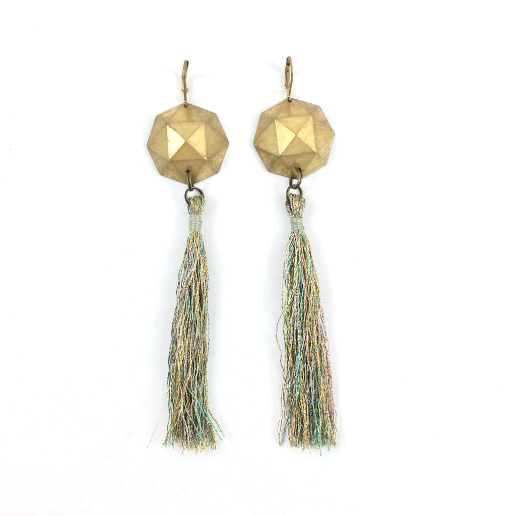 Earrings with Long Tassels