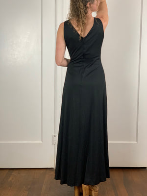 Black Maxi with Beaded Detail