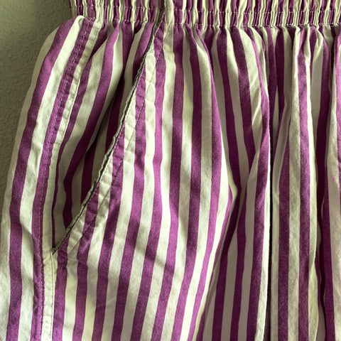 Purple Stripe Shorts