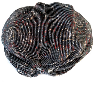 Vintage Metallic Turban