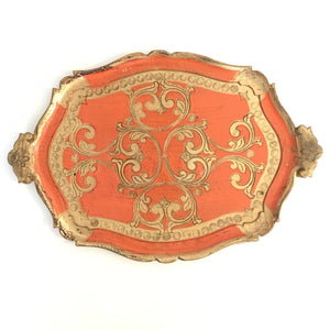 Ornate Orange Serving Tray
