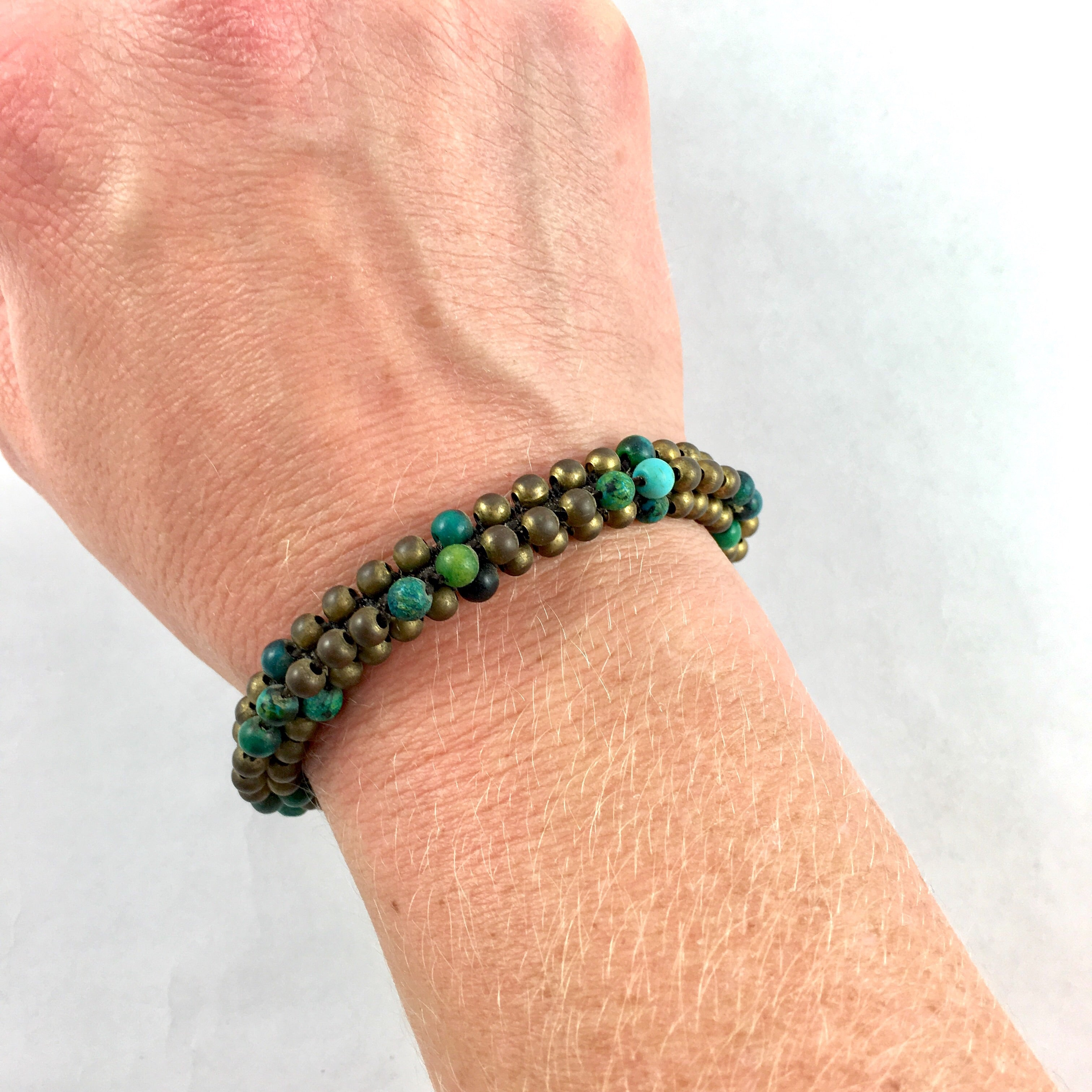 Bracelet with Turquoise and Brass