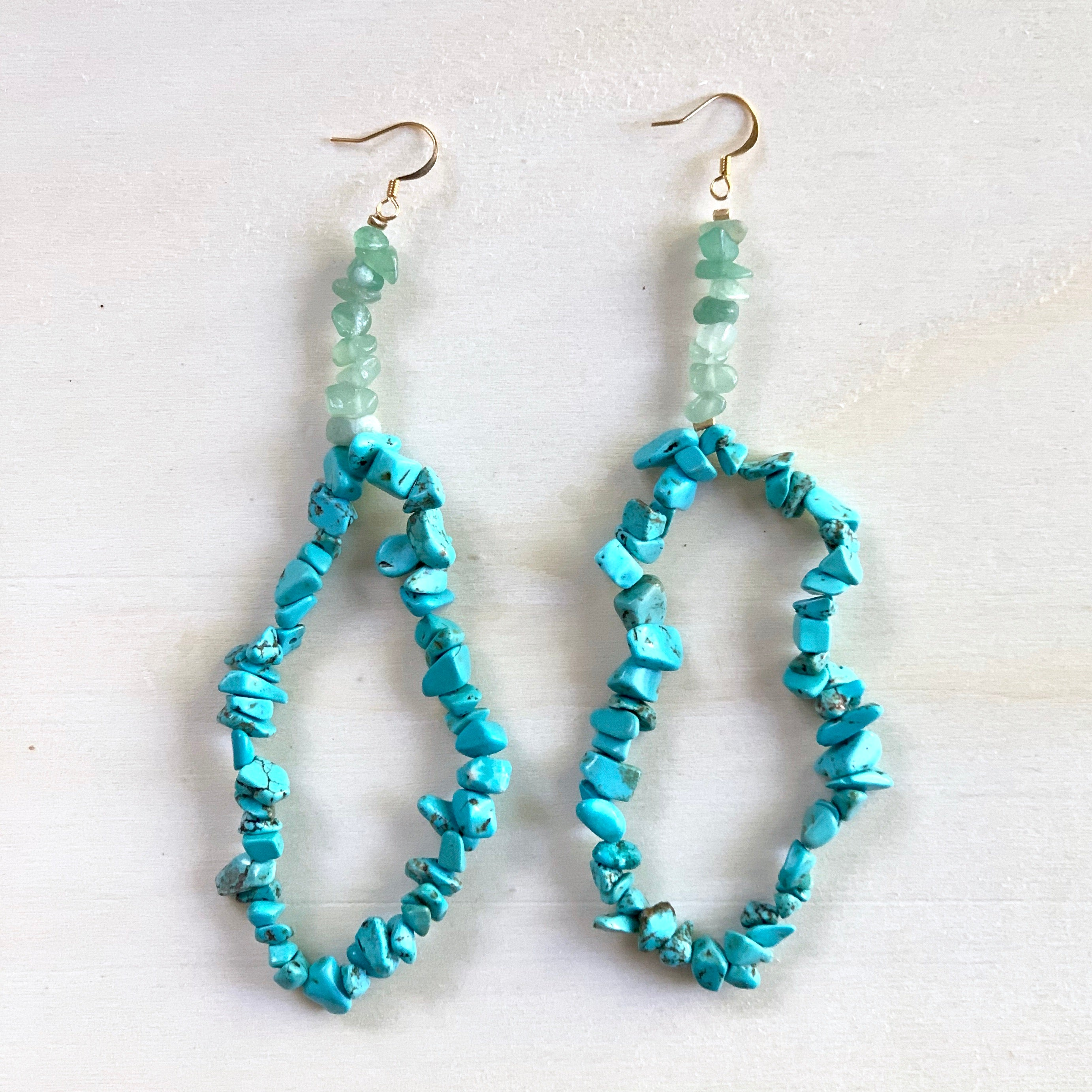 Avalanche Turquoise Hoop Earrings