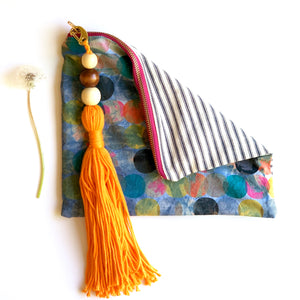 Denim Bag with Muy Grande Tassel #1