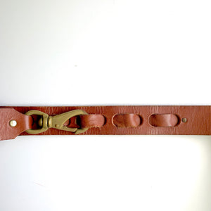 Lobster Clasp Leather Belt