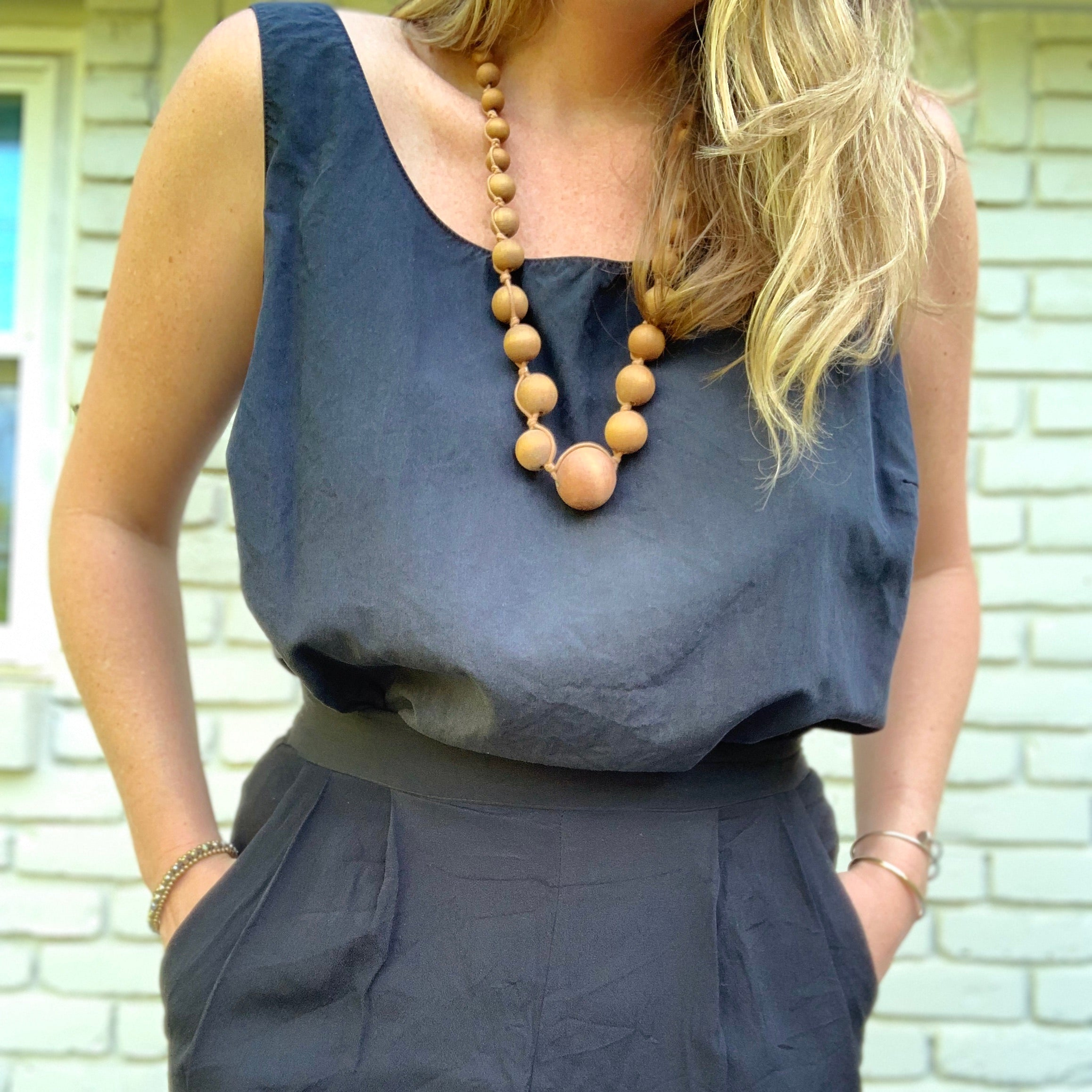 Vintage Black Silk Tank Top