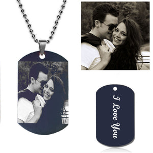 Personalized Photo Necklace - Black Style