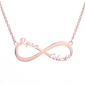 Custom 2 Name Infinity Necklace