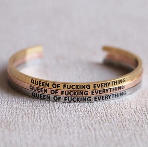 """Queen of Everything"" Custom Bracelet"