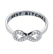 """Best Bitches"" Engraved Ring (A PAIR)"