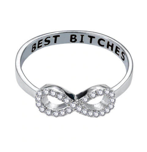 Besties Infinity Ring (A PAIR)