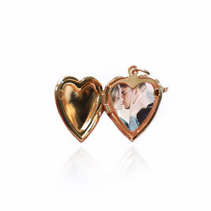 Custom Engraved Photo Heart Locket