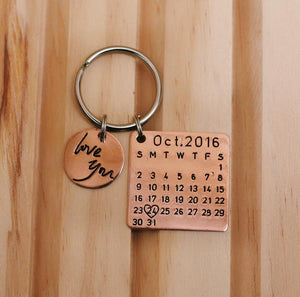 Personalized Calendar Key Chain