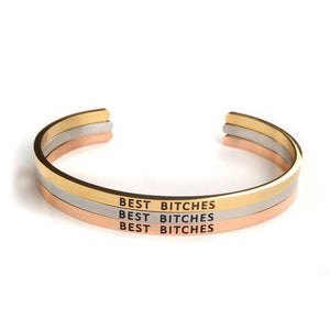 """Best Bitches"" Custom Bangle Bracelet"