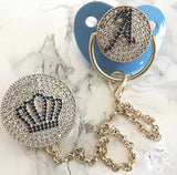 Handmade Swarovski Rhinestone Pacifier, Clip, Case and Bottle Set-Shopper Baby