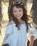 Mini Cute White Lace Princess Dress-Shopper Baby