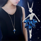 New Arrival Ballet Necklace High-grade Crystal Accessories-Shopper Baby