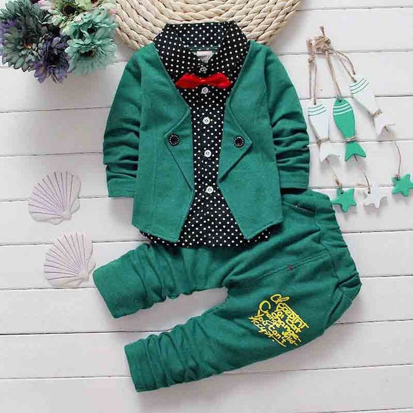 Baby Suit jacket + pants toddler clothes-Shopper Baby