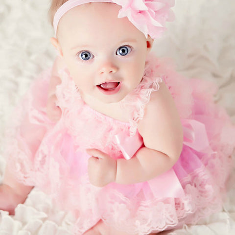 Cute Baby Pink Flower Girl Dresses-Shopper Baby
