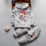 Baby Boy Clothes Sets Long Sleeved Hooded Hoodies + Pants-Shopper Baby