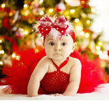 Christmas Red peach blush Baby Dresses-Shopper Baby
